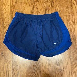 Nike sz L women's running short royal blue EUC